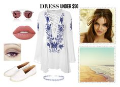 """""""Dress Under $50"""" by anabelalba95 ❤ liked on Polyvore featuring Glamorous, Christian Dior, Miss Selfridge, Topshop, Lime Crime and Dressunder50"""
