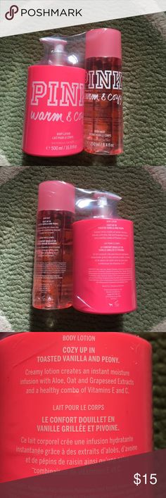 PINK warm and cozy lotion and perfume Never opened or used!! Brand new! Victoria's Secret Other