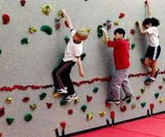 Rock climbing wall panels to add to your home