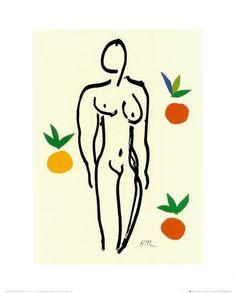 Nu Aux Oranges Posters por Henri Matisse na AllPosters.com.br