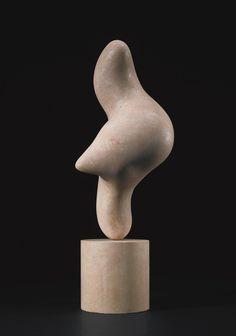 Jean Arp 1886-1966 RÉVEIL Pink limestone