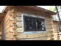 THE BACKWOODS CABIN. Episode 15. A closeup look inside. Over half the siding up…
