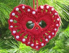 Heart on Tree by keep-me-in-stitches, via Flickr  Lisa Gentry design worked up by my friend
