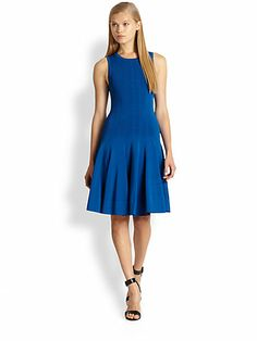 A.L.C. - Peterson Stretch Knit Fit-and-Flare Dress - Saks.com