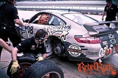 Rebel Rock Racing team at Miami Homestead with the crew