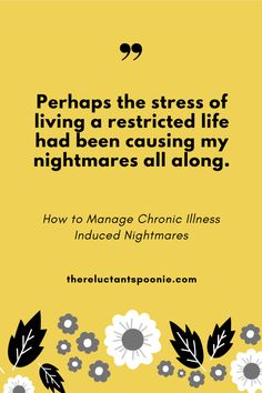 How to Manage Chronic Illness Induced Nightmares