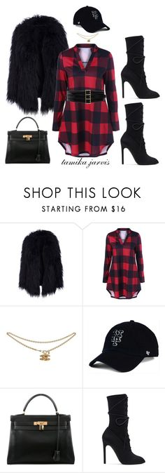 """Untitled_17"" by tamikajarvis ❤ liked on Polyvore featuring '47 Brand, Hermès, adidas Originals and Oscar de la Renta"