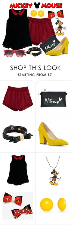 """Mickey Mouse"" by princesschandler on Polyvore featuring Kate Spade, Nine West, Slater Zorn, Disney Couture, Kim Rogers, Cutler and Gross, disney, mickey, disneybound and mickeymouse"