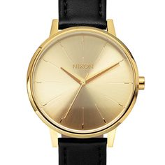 The Kensington Leather by Nixon is a modern slant on the classic ladies watch, featuring a 37mm stainless steel case and a 16 mm genuine leather custom band.