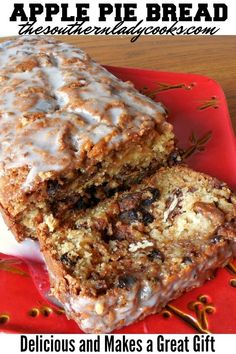 APPLE PIE BREAD Delicious recipe and wonderful with coffee or milk anytime. Buttermilk Recipes, Apple Pie Recipes, Bread Recipes, Baking Recipes, Dessert Recipes, Apple Bread Recipe Healthy, Apple Desserts, Apple Pie Bread, Apple Pie Cake