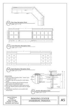reception desk plans - Google Search