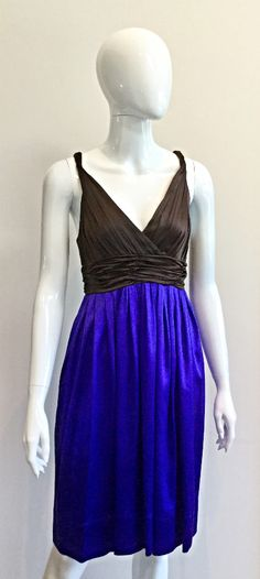 New arrival: DKNY silk ruched cocktail dress in blue and brown Cocktail, Silk, Formal Dresses, Brown, Blue, Collection, Fashion, Dresses For Formal, Moda