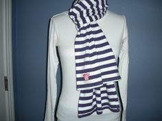 stripedshirt: is fun, fashionable fan-wear for women, kids and babies to let you show your colors and support a team, school, cause or organization. Striped Scarves, Purple, Sweaters, How To Wear, Style Ideas, Color, Women, Girls, Fashion