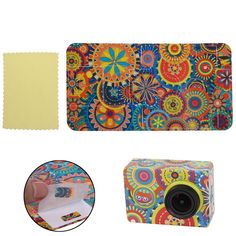 New Flower Pattern Sticker Skin Protector Case For XiaoMi Yi Action Sport Camera #UnbrandedGeneric