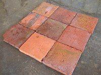 Tomettes anciennes carrés tom16-1950u