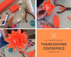 Seems early to speak about THANKSGIVING, but you can never plan too early for some holiday decor! The link for this tutorial is in the bio. Thanksgiving Flowers, Thanksgiving Centerpieces, Thanksgiving Table, Flowers For You, Diy Flowers, Fundraising Events, Fundraising Ideas, Scandinavian Christmas Trees, Crepe Paper Flowers Tutorial