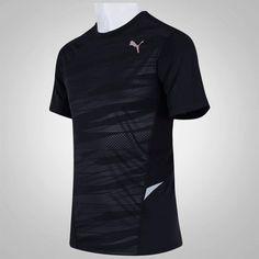 8881fd36b5 Conheça a Camisa Camiseta Puma Fitness Graphic Masculina - Preta - Frete  Grátis. Seus treinos