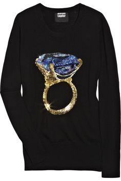 Markus Lupfer|Blue Diamond sequined wool sweater