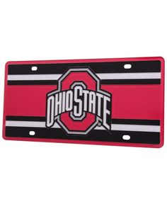 Stockdale Ohio State Buckeyes Super Stripe License Plate