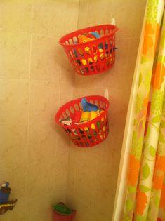 Trendy Ideas For Bathroom Storage Diy Dollar Stores Bath Toys Bath Toy Storage, Diy Storage, Shower Storage, Kitchen Storage, Storage Organization, Storage Ideas, Diy For Teens, Diy For Kids, Bath Toys