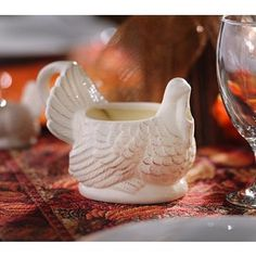 How cute is this?! Our Turkey Gravy Boat will be the hit of your table! #kirklands #harvest