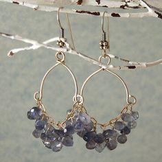 """Items similar to Blue Apatite Earrings Chandelier Earrings Sterling Silver """"Lana"""" on Etsy"""