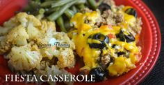This yummy Fiesta Casserole is easy to throw together in a hurry and is sure to be a hit with your family! THM:S, low carb, gluten/egg/nut free