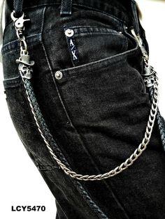RockPunk Vintage Men Leather 2-tiers Skull Hip-Hop Metal Waist Biker Chain Belt – The Cooking life starts at P&Y Mansion