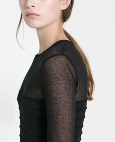 DRESS WITH SHEER DETAIL - Woman - New this week | ZARA United States