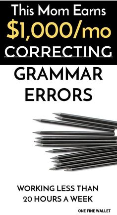 Learn how to become a proofreader from home and make money correcting grammar errors. Amanda a stay-at-home mom of 3 … Earn Money From Home, Make Money Blogging, Way To Make Money, Money Tips, Make Money Online, Money Hacks, Saving Money, Proofreader, Work From Home Jobs