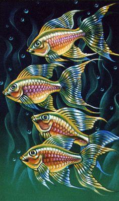 fish Source by Art Carte, Watercolor Fish, Fish Art, Fish Fish, Sea Art, Fish Design, Beautiful Fish, Colorful Fish, Animal Wallpaper
