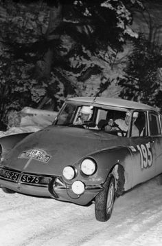 1966 MONTE CARLO RALLY - Citroen DS21. Entrant: Automobiles Citroen. Drivers: Pauli Toivonen / Ensio Mikkander. Place: 1st o/a.