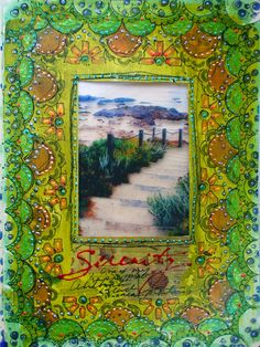 Mixed Media Art Journal page by Gwen Lafleur using exclusive stencils from StencilGirl's StencilClub.