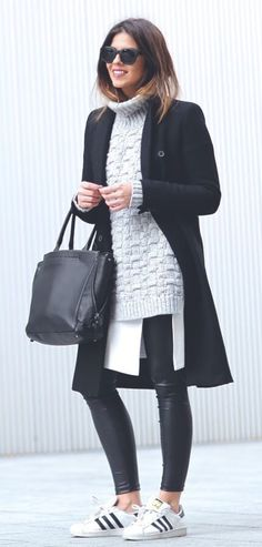 Awesome 50 Casual Winter Outfits Ideas with Sweaters for Women Over 40 looksglam… - Women Fashion Casual Winter Outfits, Winter Fashion Casual, Winter Outfits For Work, Autumn Winter Fashion, Fall Outfits, Classy Fashion, Style Fashion, Winter Wear, Fall Fashion