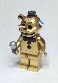 Golden Freddy Fazbear - Five Nights At Freddy's Custom Lego Minifigure Mini Fig by BackwellFixings on Etsy https://www.etsy.com/listing/251786913/golden-freddy-fazbear-five-nights-at