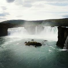 Goðafoss - This waterfall is also known as the Waterfall of the Gods.