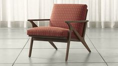 Cavett Patterned Wood Frame Chair | Crate and Barrel