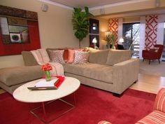 Focus On Modern Design: Sleek Decorating Ideas From Rate My Space. Tan RoomsRed  Living RoomsLiving Room ...