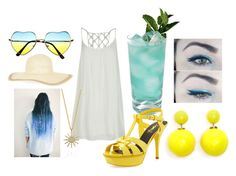 """Blue and Yellow Summer"" by buckarella ❤ liked on Polyvore"