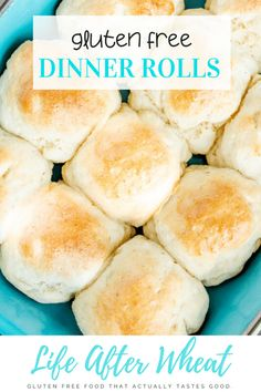 These gluten free rolls are perfectly soft, fluffy, and so easy to make! Ready in just one hour, they are the perfect addition to any meal and will be enjoyed by everyone, gluten-eaters included! Dairy free option included. Gluten Free Dinner Rolls, Gluten Free Yeast Rolls, Gluten Free Recipes For Breakfast, Best Gluten Free Recipes, Gluten Free Breakfasts, Gf Recipes, Gluten Free Baking, Gluten Free Flour, Gluten Free Bagels