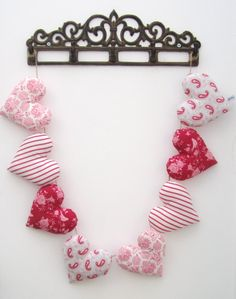 Heart Garland made from TILDA fabric - £20  www.facebook.com/mellasmakings