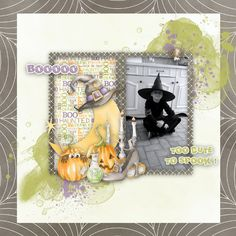 """Sweet-Chick Scrap and Co My page with """"Sweet Halloween"""" by Scrap Yas"""