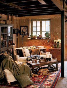 cabin decor for the basement
