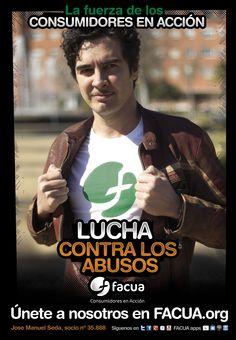 José Manuel Seda, socio de FACUA nº 35.888, llama a los consumidores a la lucha contra los abusos