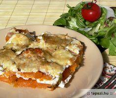 Rakott batáta Lasagna, Quiche, Breakfast, Ethnic Recipes, Food, Potato, Morning Coffee, Lasagne, Quiches