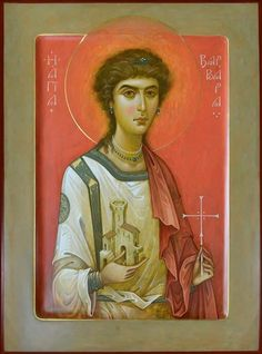 St Barbara by Oleg Shurkus Byzantine Icons, Byzantine Art, Like Icon, All Icon, Saint Barbara, Religious Icons, Orthodox Icons, Christian Art, Love And Light
