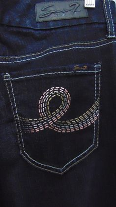 $198 7 For All Mankind Bootcut Black Women's Jeans Crystal Stud X-Long 27 28