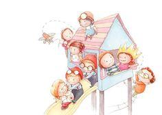 Amy Proud Illustration - amy proud, amy, proud, painted, water colour, watercolour, paint, traditional, picture books, fiction, children, boys, girls