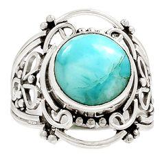 Larimar - Dominican Republic 925 Sterling Silver Ring Jewelry s.8.5 RR26427 | eBay