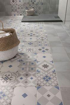 Idée décoration Salle de bain  Carrelage imitation carreaux de ciment Gatsby ARTENS en grès cérame émaillé